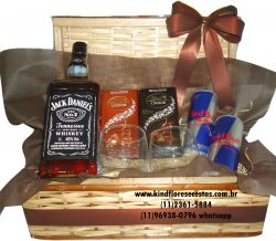 Cestas de Whiskey Jack Daniel Mais Chocolate Lindt