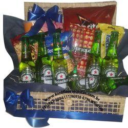 Cesta de Cerveja Petiscando e Saboreando com Heineken