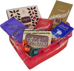 Cesta de Chocolate Coração Mimado