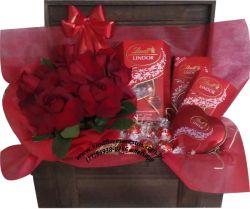 Cestas de Chocolate Bau Luxo Lindt