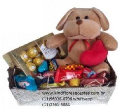 Cesta de Chocolate Caixinha de Papel Amor