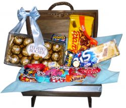 CESTA DE CHOCOLATE SWEET BLUE
